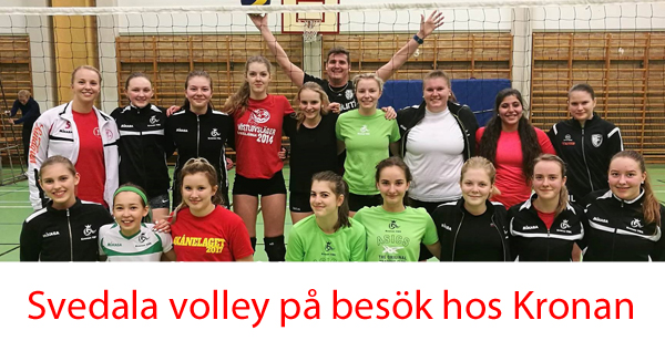 Svedala volley hos Kronan 600